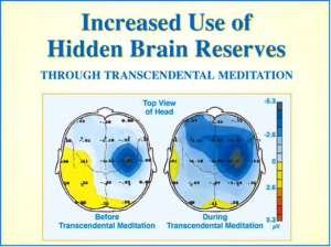 Increased use of hidden brain reserves
